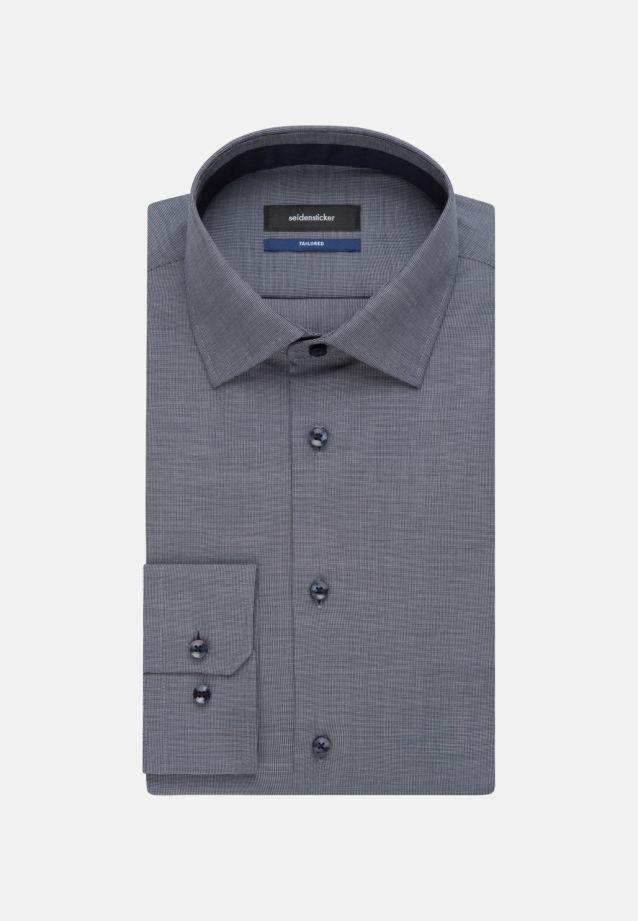 Bügelfreies Struktur Business Hemd in Tailored mit Kentkragen in Dunkelblau |  Seidensticker Onlineshop