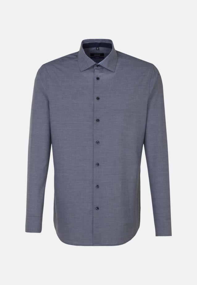 Bügelfreies Struktur Business Hemd in Tailored mit Kentkragen in blau |  Seidensticker Onlineshop