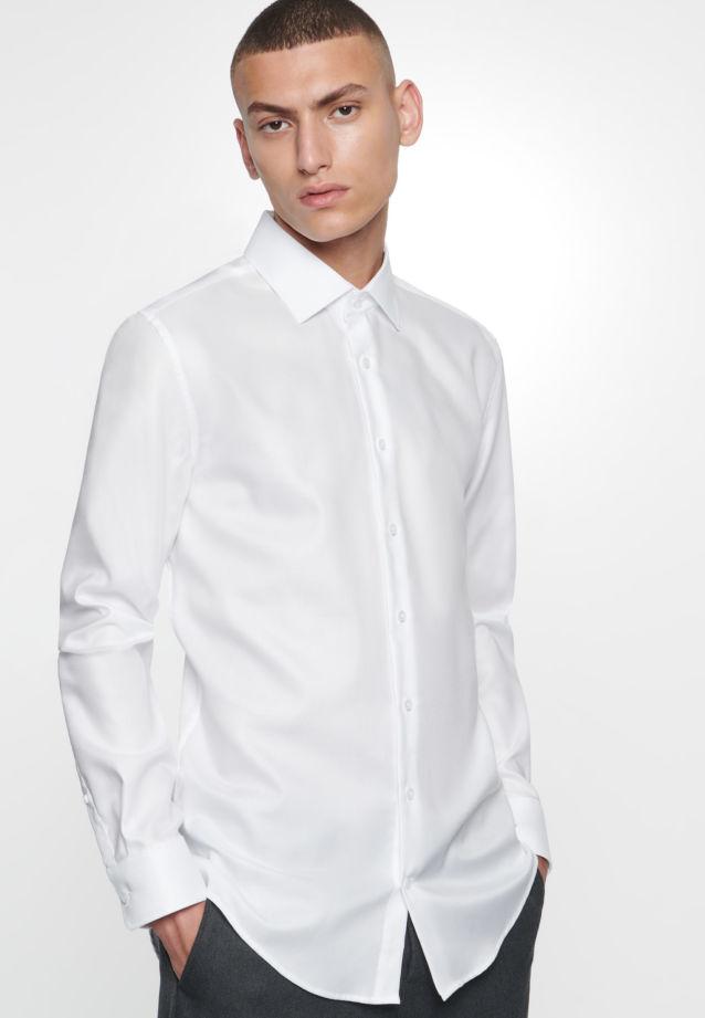 Bügelfreies Struktur Business Hemd in Slim mit Kentkragen in Weiß |  Seidensticker Onlineshop