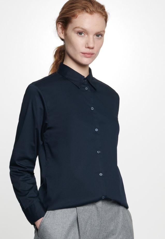 Twill Shirt Blouse made of 100% Cotton in Dark blue |  Seidensticker Onlineshop