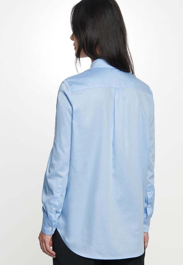 Satin Shirt Blouse made of 100% Cotton in Light blue |  Seidensticker Onlineshop