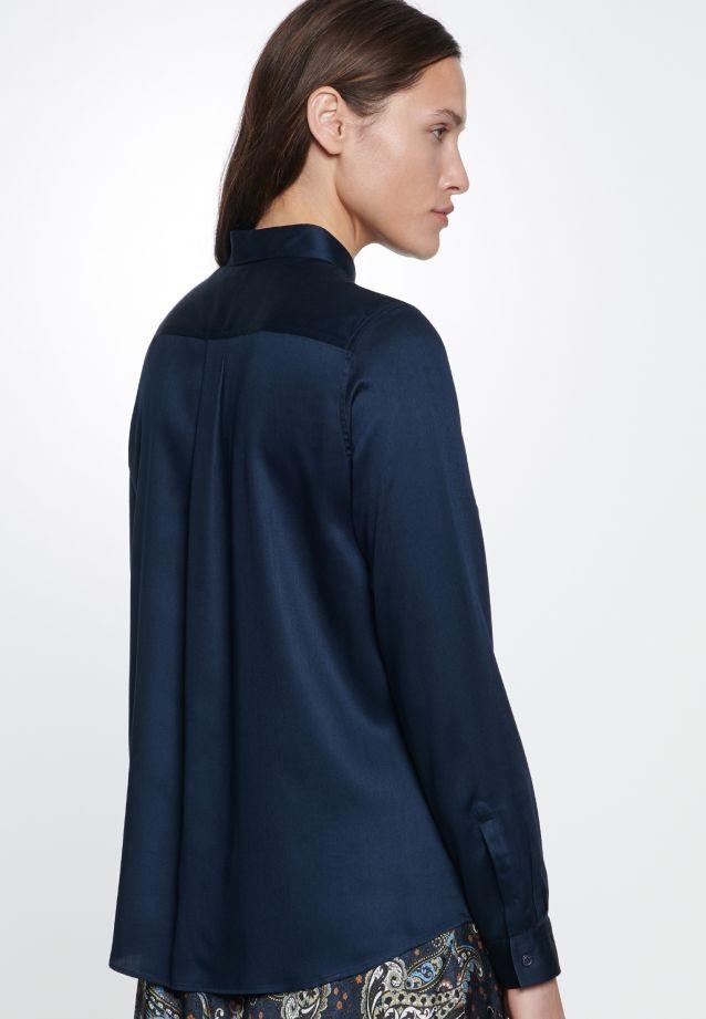 Satin Hemdbluse aus 100% Viskose in Dark Sapphire |  Seidensticker Onlineshop