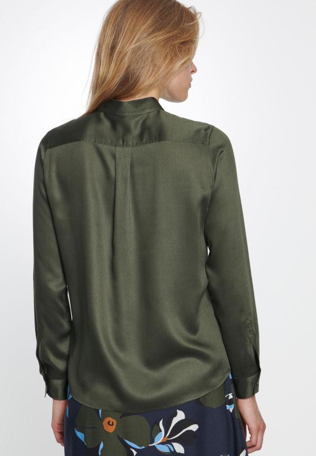 Satin Hemdbluse aus 100% Viskose in Grün |  Seidensticker Onlineshop
