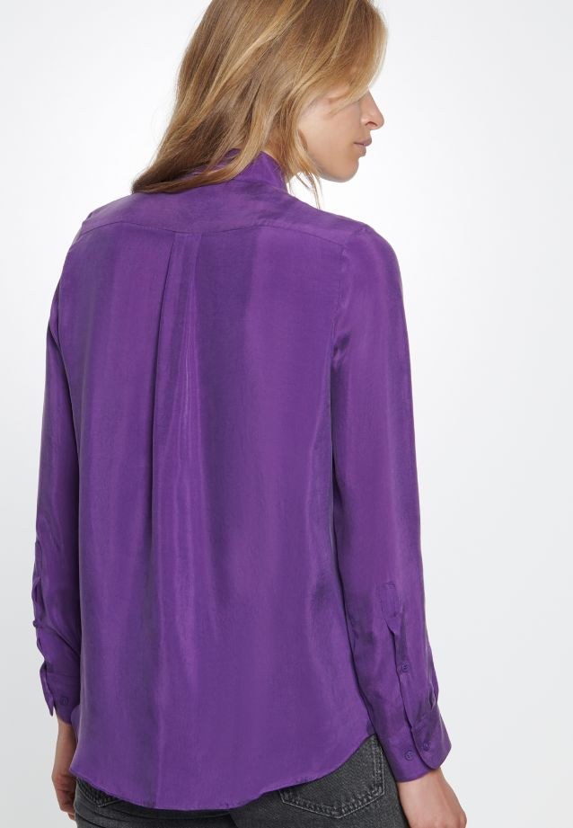 Hemdbluse aus 55% Rayon 45% Cupro in Amaranth Purple |  Seidensticker Onlineshop