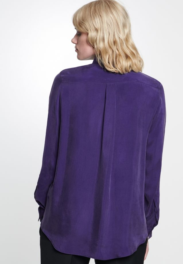 Shirt Blouse made of 55% Rayon 45% Cupro in Purple |  Seidensticker Onlineshop