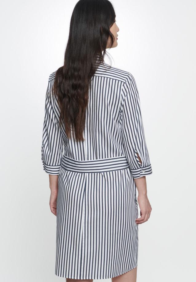 3/4 arm Satin Dress made of 100% Cotton in Dark Sapphire |  Seidensticker Onlineshop