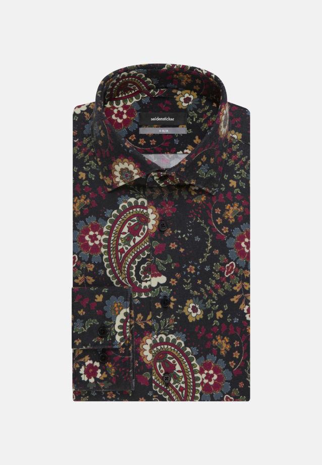 Bügelleichtes Twill Business Hemd in X-Slim mit Kentkragen in Grau |  Seidensticker Onlineshop