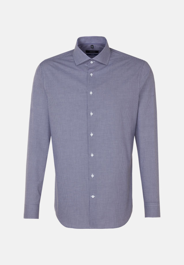 Non-iron Poplin Business Shirt in Tailored with Kent-Collar in Purpla |  Seidensticker Onlineshop