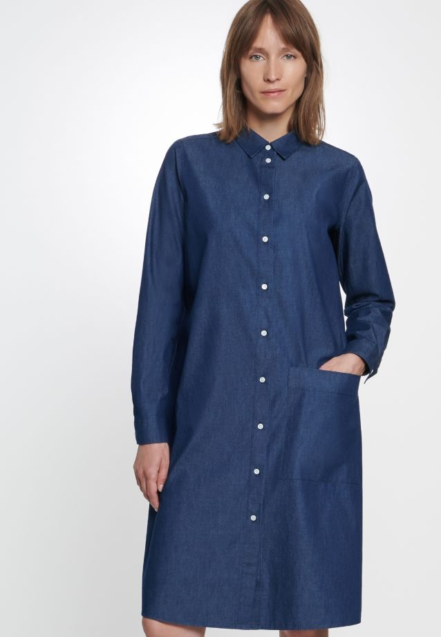 Denim Dress made of 100% Cotton in Dark blue |  Seidensticker Onlineshop