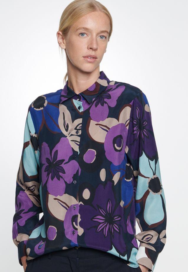 Hemdbluse aus 100% Cupro in blau |  Seidensticker Onlineshop