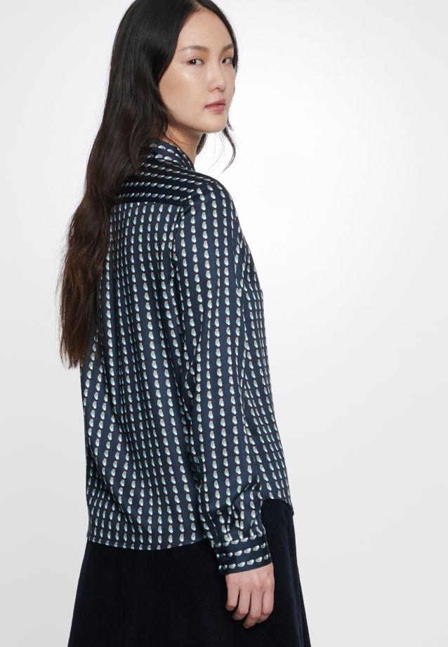 Satin Shirt Blouse made of 100% Viskose in Dark blue |  Seidensticker Onlineshop