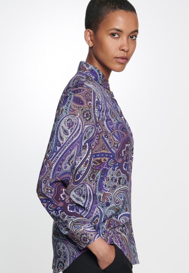 Voile Shirt Blouse made of 100% Viscose in Purple |  Seidensticker Onlineshop