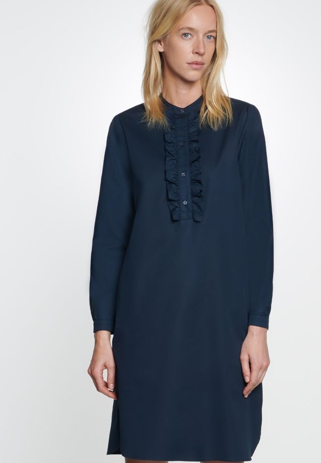 Twill Midi Dress made of 100% Cotton in Dark blue |  Seidensticker Onlineshop