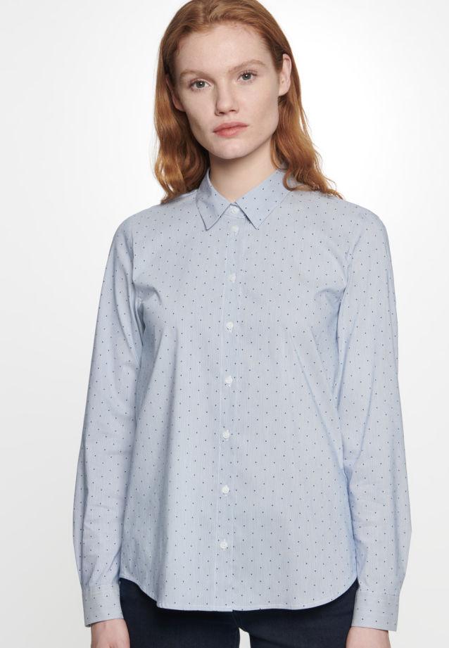 Popeline Hemdbluse aus Baumwollmischung in Mittelblau |  Seidensticker Onlineshop