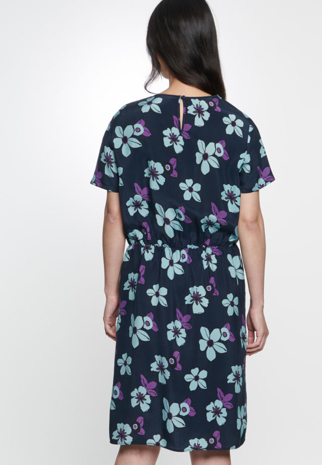 Short arm Dress made of 100% Cupro in Dark blue |  Seidensticker Onlineshop