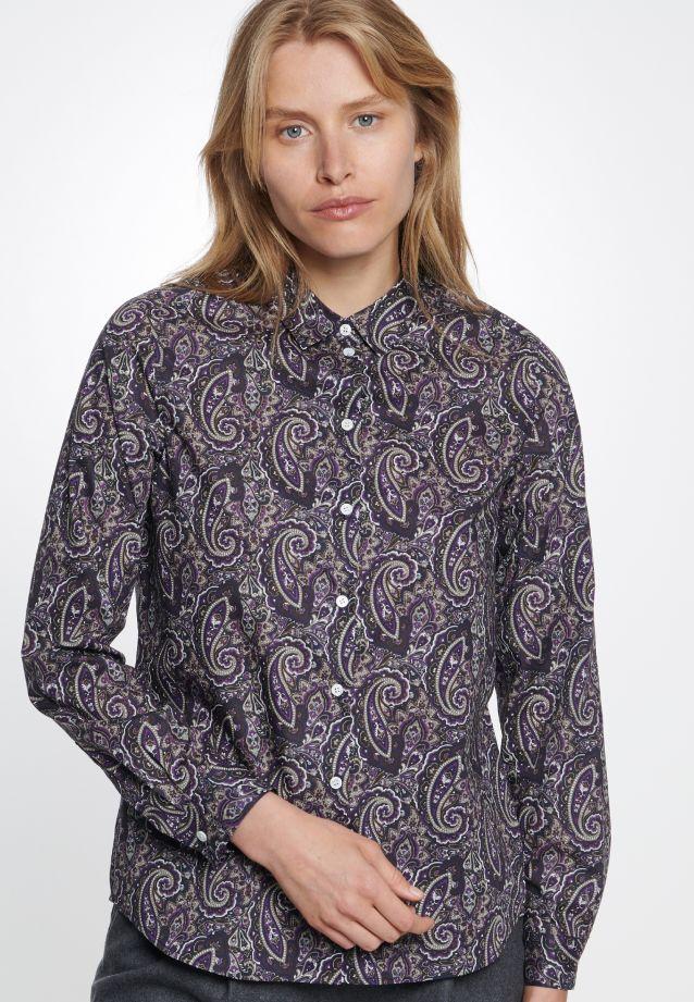 Popeline Hemdbluse aus 100% Baumwolle in blau |  Seidensticker Onlineshop