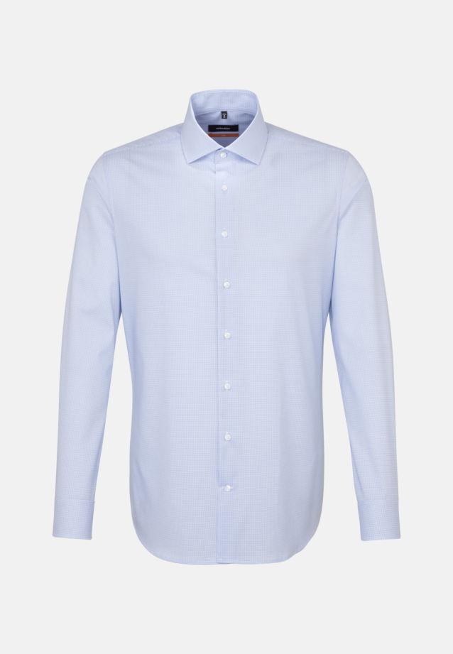 Non-iron Poplin Business Shirt in Slim with Kent-Collar in hellblau    Seidensticker Onlineshop