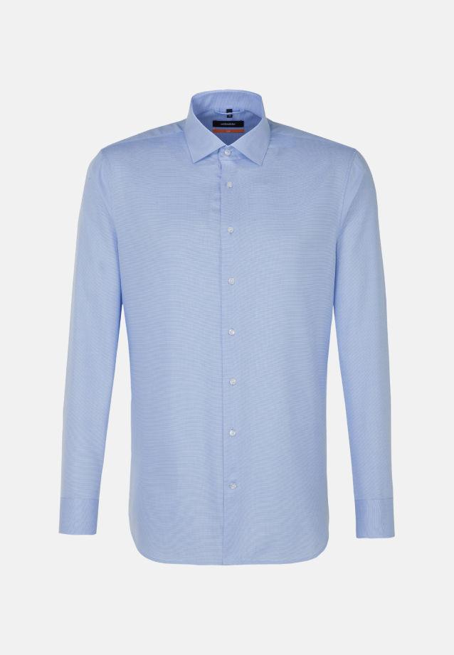 Easy-iron Structure Business Shirt in Slim with Kent-Collar in Light blue |  Seidensticker Onlineshop