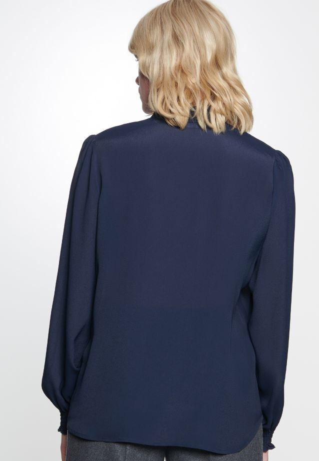 Crepe Stand-Up Blouse made of 100% Viskose in Dark blue |  Seidensticker Onlineshop