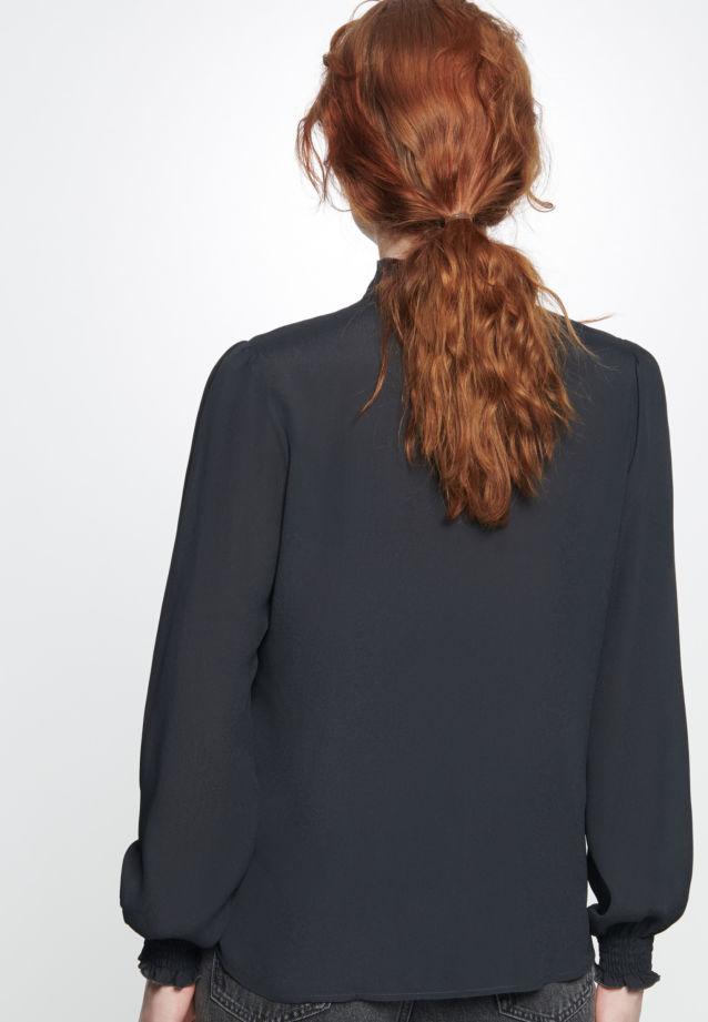 Crepe Stand-Up Blouse made of 100% Viskose in Moonless Night |  Seidensticker Onlineshop