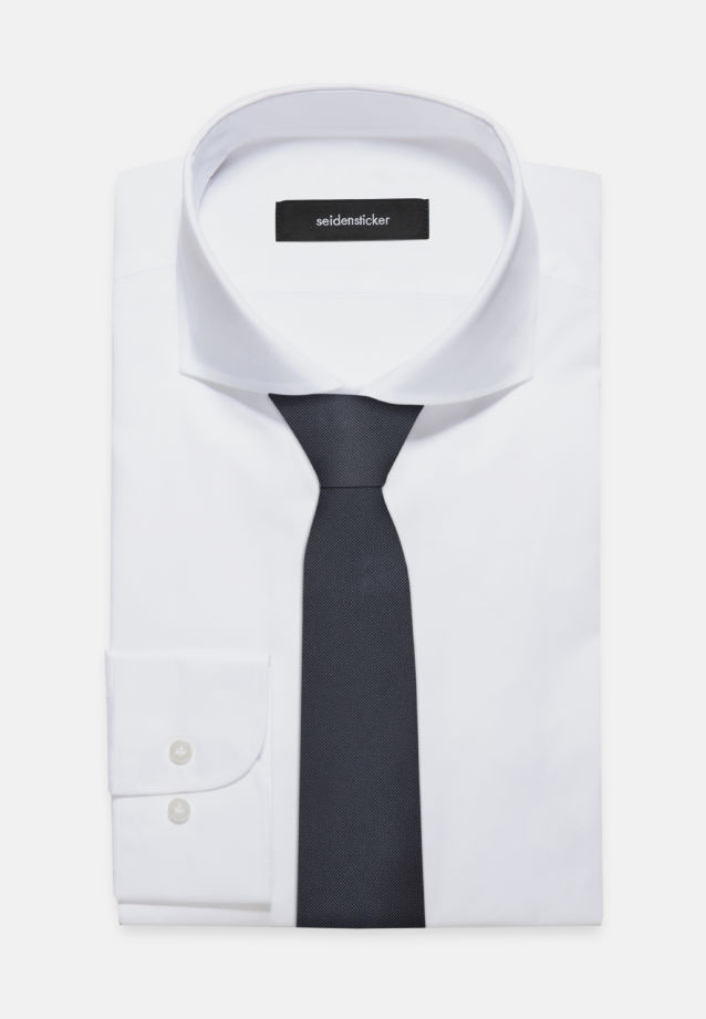 Krawatte aus 100% Seide 7 cm Breit in uni blau |  Seidensticker Onlineshop