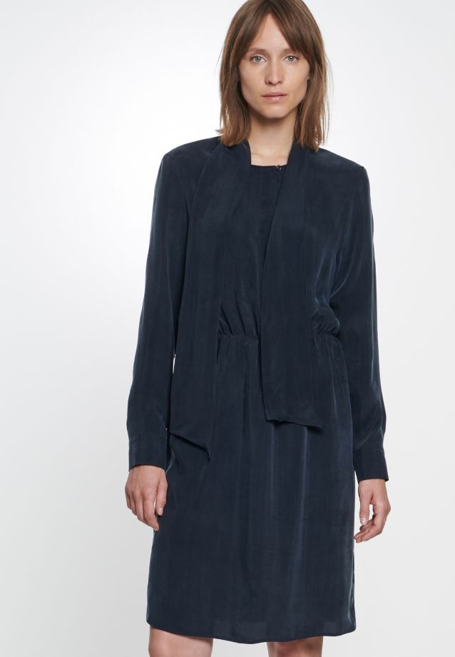 Midi Dress made of 55% Rayon 45% Cupro in Dark blue |  Seidensticker Onlineshop