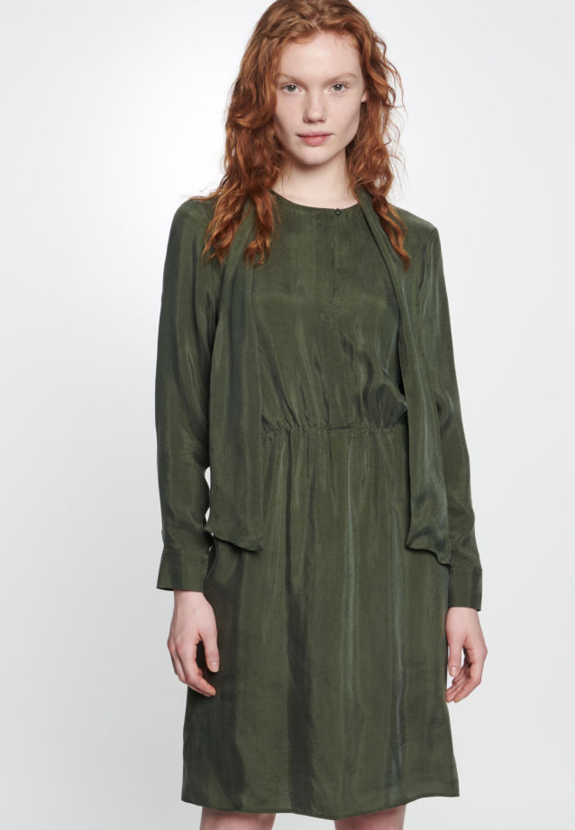 Midi Dress made of 55% Rayon 45% Cupro in Green |  Seidensticker Onlineshop