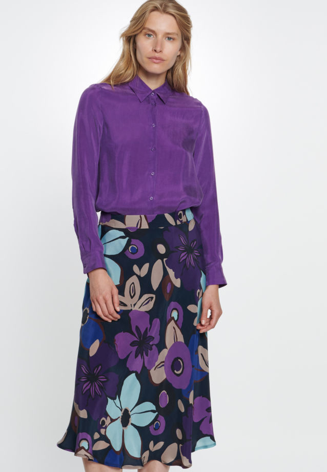 Midi Skirt made of 100% Cupro in Dark blue |  Seidensticker Onlineshop