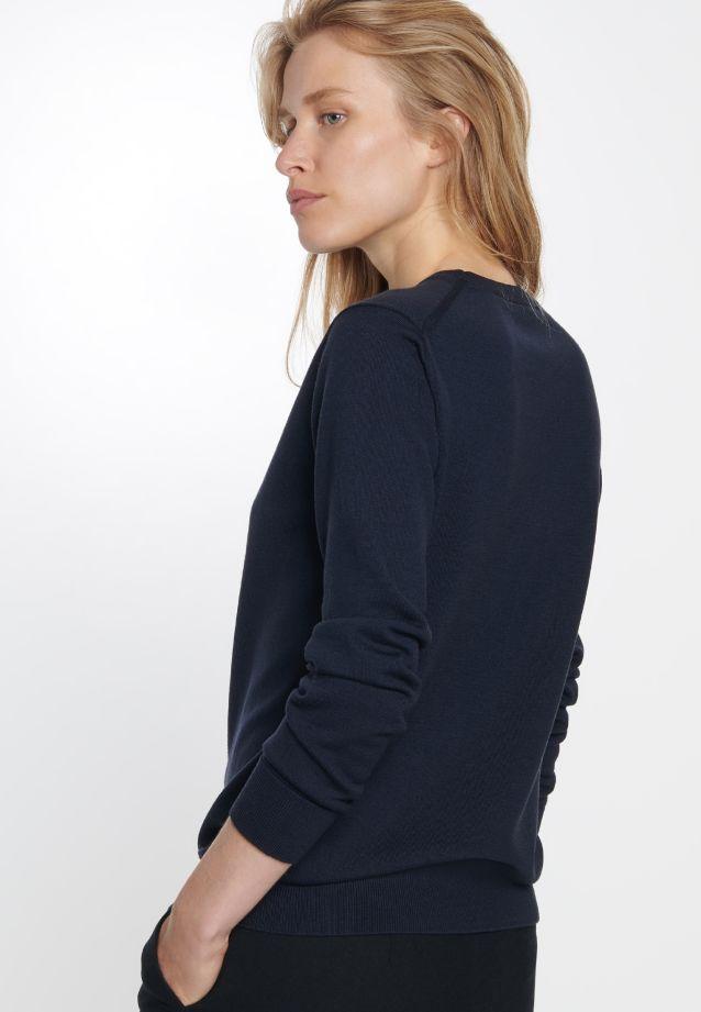 Crew Neck Pullover made of 100% Wolle in navy    Seidensticker Onlineshop