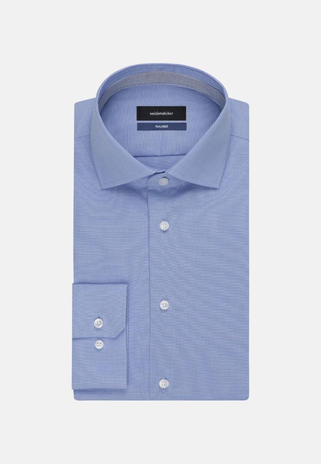 Bügelfreies Fil a fil Business Hemd in Tailored mit Kentkragen in hellblau |  Seidensticker Onlineshop