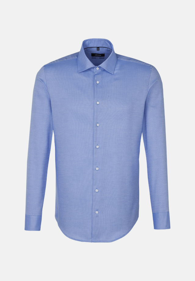 Non-iron Structure Business Shirt in Tailored with Kent-Collar and extra long arm in Light blue |  Seidensticker Onlineshop