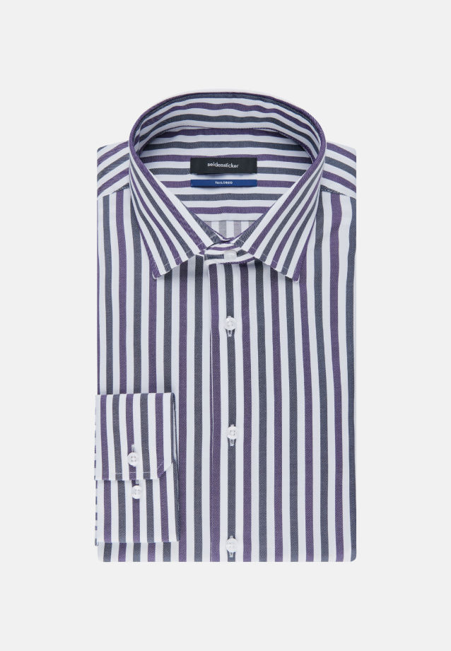 Non-iron Twill Business Shirt in Shaped with Kent-Collar in Purple |  Seidensticker Onlineshop