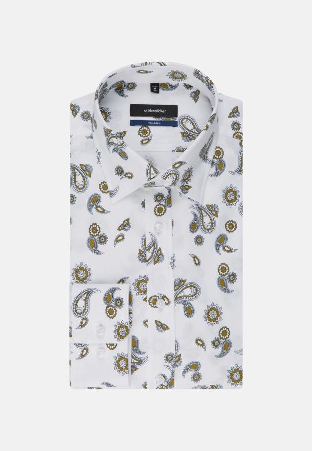 Bügelleichtes Twill Business Hemd in Tailored mit Covered-Button-Down-Kragen in gelb |  Seidensticker Onlineshop