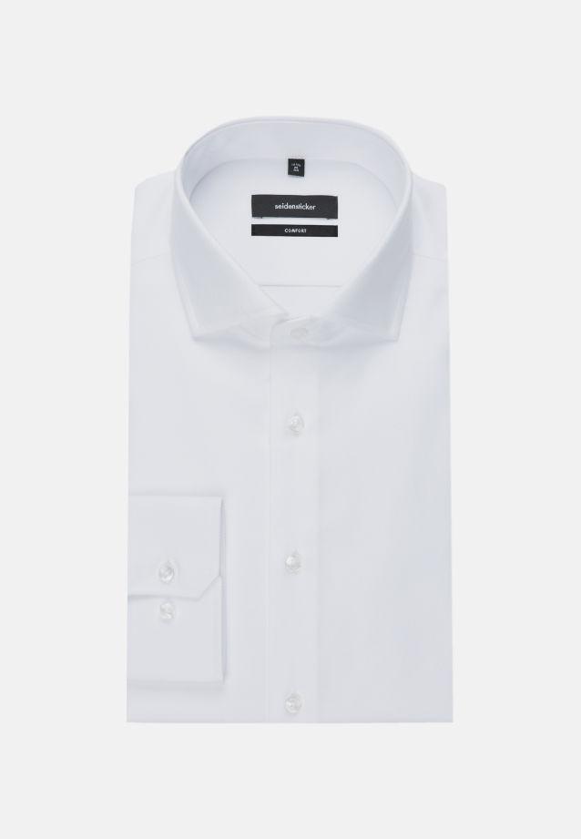 Bügelleichtes Twill Business Hemd in Comfort mit Kentkragen in weiß    Seidensticker Onlineshop