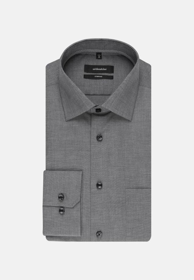 Non-iron Chambray Business Shirt in Comfort with Kent-Collar in schwarz |  Seidensticker Onlineshop