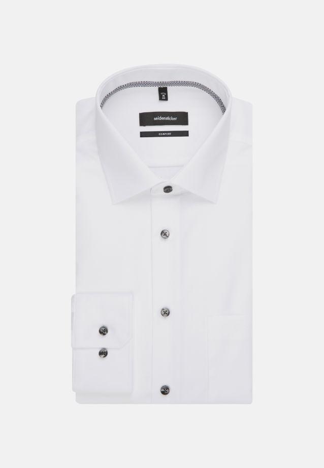 Bügelfreies Chambray Business Hemd in Comfort mit Kentkragen in weiß    Seidensticker Onlineshop