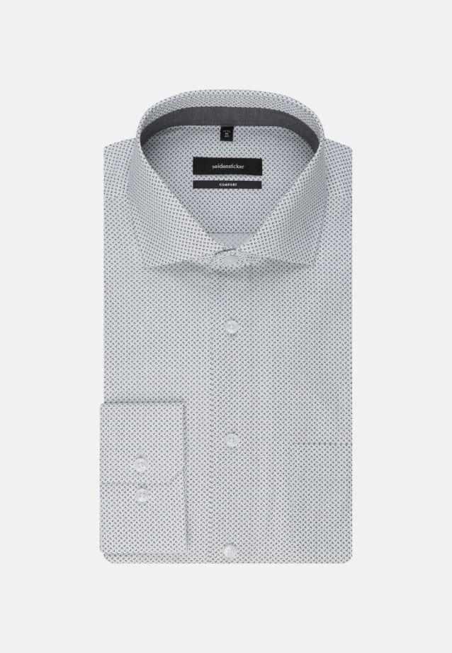 Bügelleichtes Popeline Business Hemd in Comfort mit Kentkragen in schwarz    Seidensticker Onlineshop