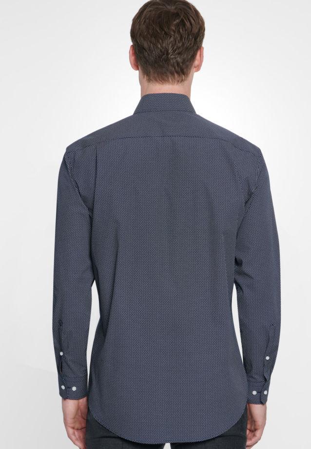 Bügelleichtes Popeline Business Hemd in Comfort mit Kentkragen in blau    Seidensticker Onlineshop