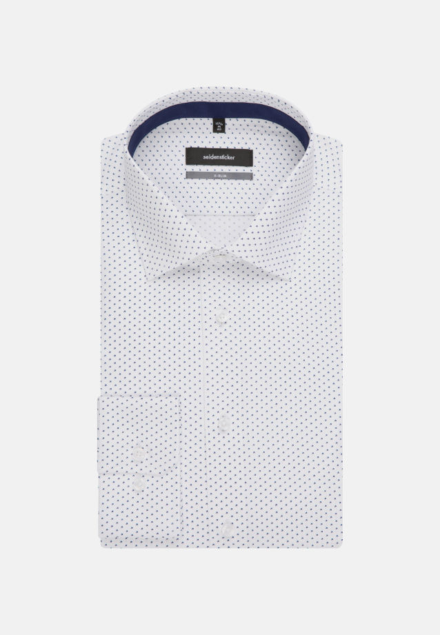 Easy-iron Poplin Business Shirt in X-Slim with Kent-Collar in Medium blue |  Seidensticker Onlineshop