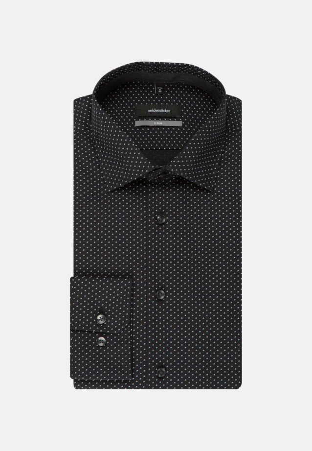 Easy-iron Poplin Business Shirt in X-Slim with Kent-Collar in anthra |  Seidensticker Onlineshop