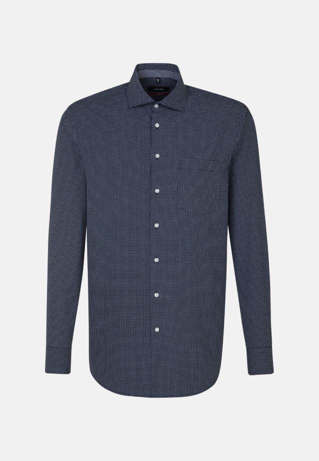 Bügelleichtes Popeline Business Hemd in Modern mit Kentkragen und extra langem Arm in blau |  Seidensticker Onlineshop