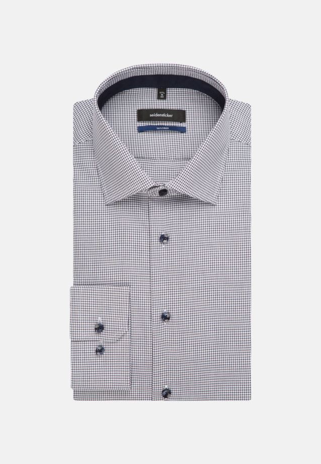 Non-iron Twill Business Shirt in Tailored with Kent-Collar in Dark blue |  Seidensticker Onlineshop