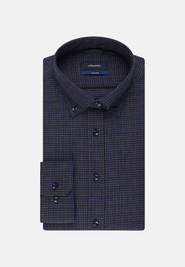 Bügelleichtes Twill Business Hemd in Tailored mit Button-Down-Kragen in Lila |  Seidensticker Onlineshop