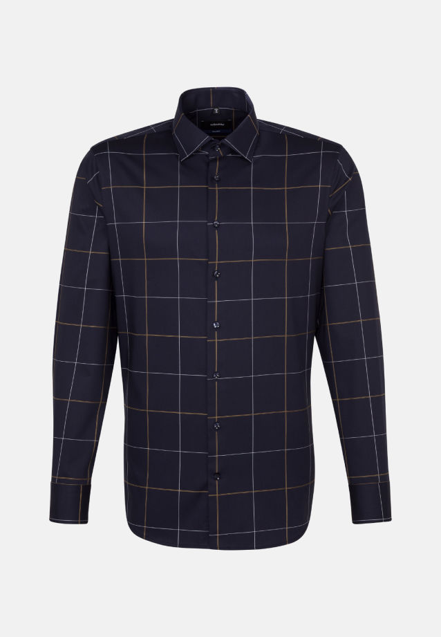 Non-iron Twill Business Shirt in Shaped with Kent-Collar in Yellow |  Seidensticker Onlineshop