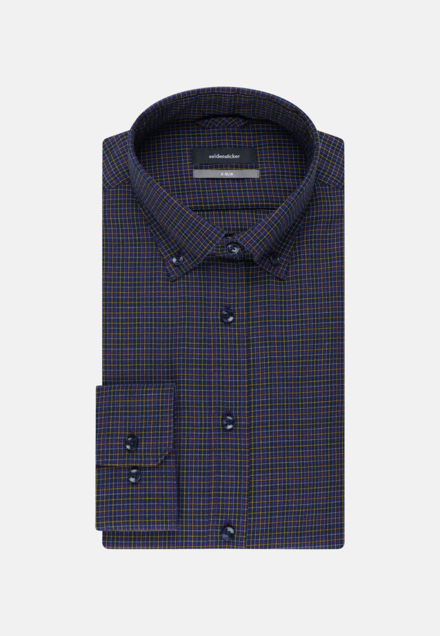 Bügelleichtes Twill Business Hemd in X-Slim mit Button-Down-Kragen in Lila |  Seidensticker Onlineshop