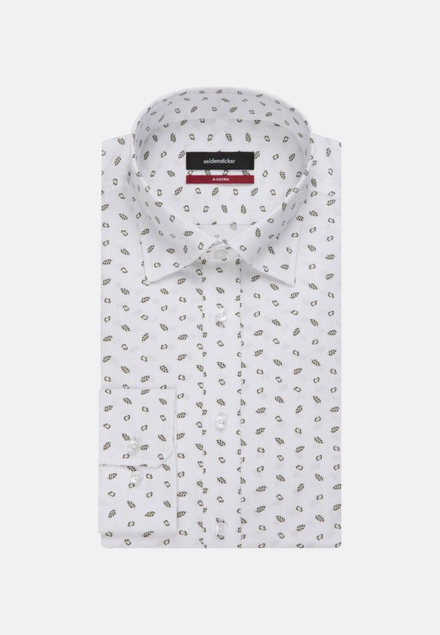 Bügelleichtes Popeline Business Hemd in Modern mit Covered-Button-Down-Kragen in grün |  Seidensticker Onlineshop