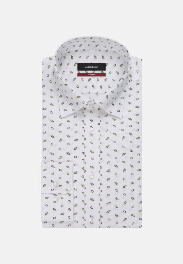 Easy-iron Poplin Business Shirt in Regular with Covered-Button-Down-Collar in White |  Seidensticker Onlineshop