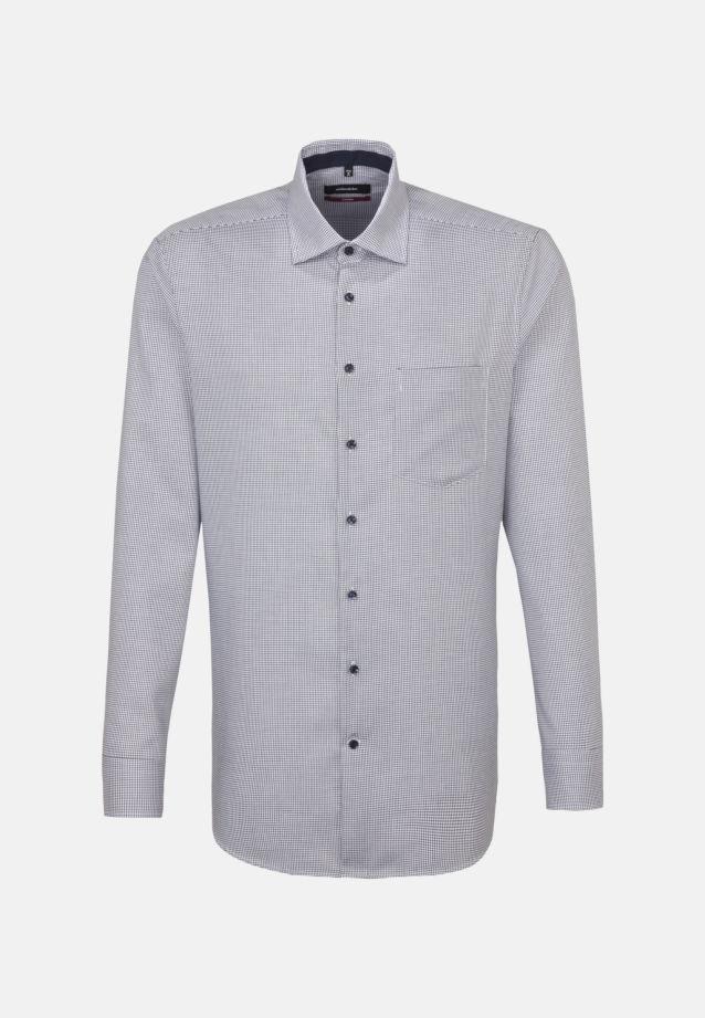 Bügelfreies Twill Business Hemd in Modern mit Kentkragen in Dunkelblau    Seidensticker Onlineshop