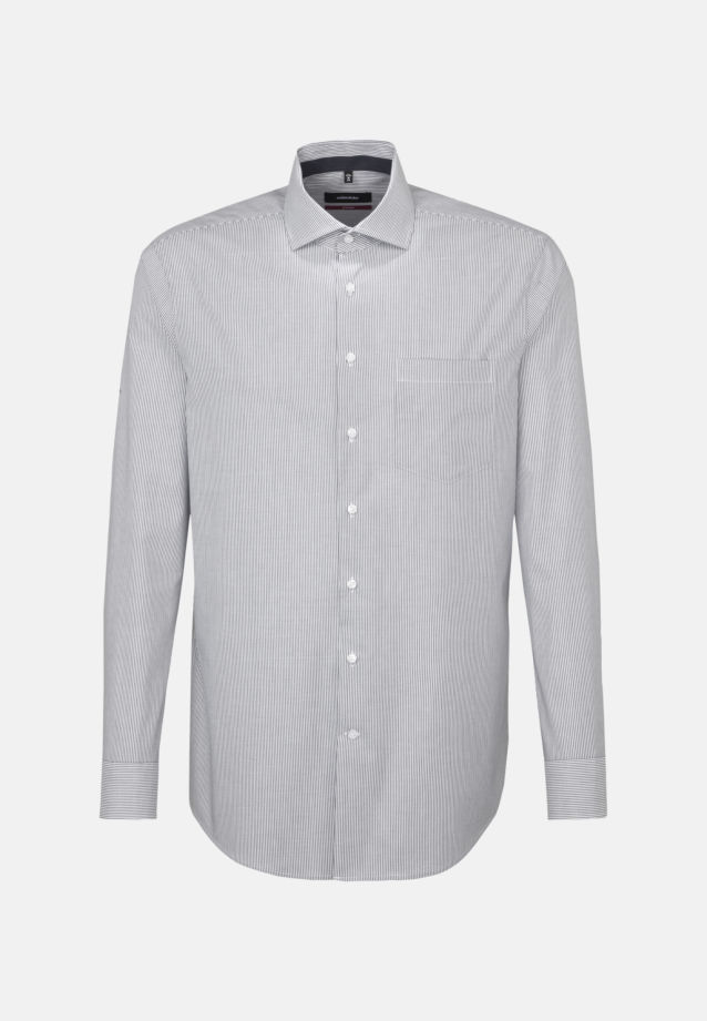 Non-iron Poplin Business Shirt in Regular with Kent-Collar in Grey |  Seidensticker Onlineshop