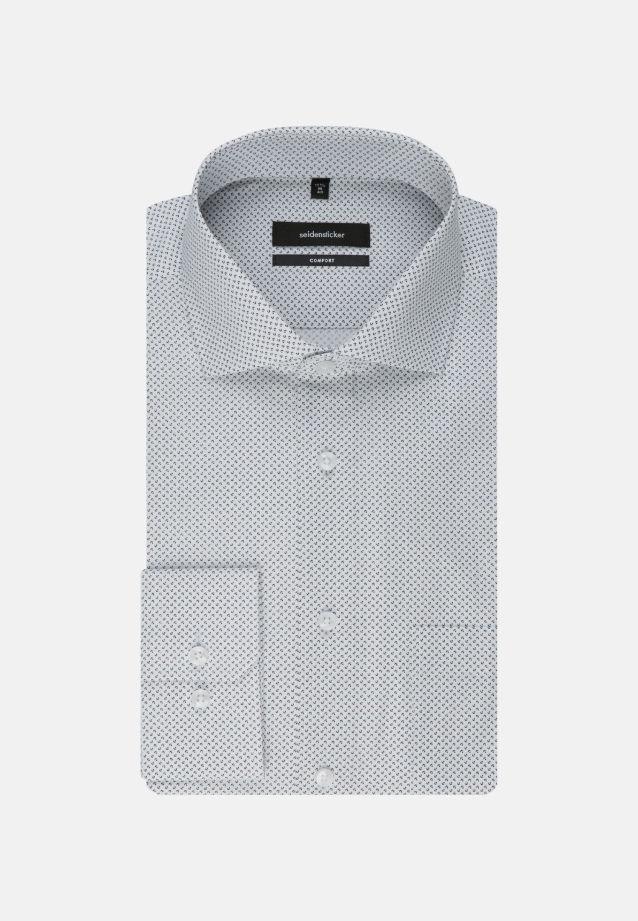 Bügelleichtes Popeline Business Hemd in Comfort mit Kentkragen und extra langem Arm in schwarz |  Seidensticker Onlineshop